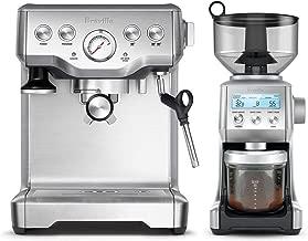 Breville BES840XL Infuser Espresso Machine Bundle with Breville BCG820BSS Smart Grinder Pro - Stainless Steel