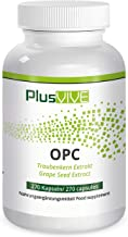 Plusvive - Cápsulas OPC con extracto de semilla de uva francesa (400 mg)