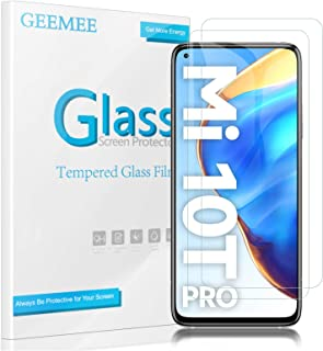 【2枚セット】GEEMEE Xiaomi Mi 10T/10T Pro 5G フィルム 強化ガラス 液晶保護フィルム 日本旭硝子素材製 業界最高硬度9H 全面吸着 指紋認証対応 高透過率 高光沢 耐指紋 飛散防止 Xiaomi Mi 10T/1...