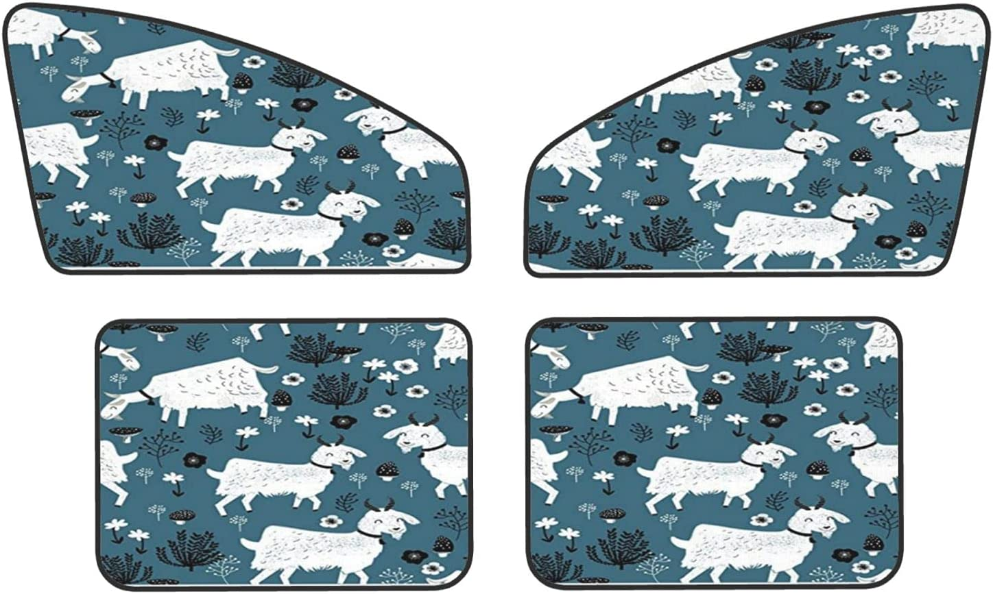 Goats Baby Farm Animal Car Sunshades shopping discount Magnets Covers Protect Priv