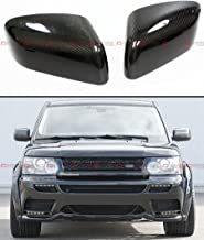 Cuztom Tuning Fits for 2010-2013 Land Range Rover Sport & LR4 Add-on Carbon Fiber Side Mirror Cover Caps Overlay Pair
