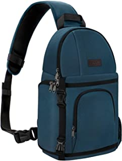 MOSISO Camera Sling Bag, DSLR/SLR/Mirrorless Case Water Repellent Shockproof Backpack with Adjustable Crossbody Strap and Removable Modular Inserts Compatible with Canon, Nikon, Sony etc, Deep Teal