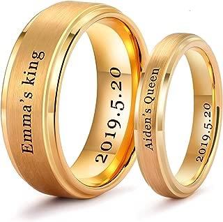 custom engraved tungsten wedding bands