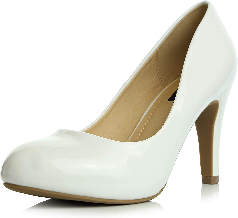 Dailyshoes Women's Stiletto Pump Classic Fashion Low Elegant Versatile Round Toe Lily-01 High Heel Evening Party Dress shoes