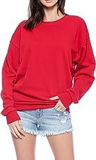 Urban Look Womens Casual Fleece Lined Pullover Sweatshirt