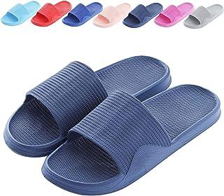 Cuidado Chaussures de Plage Femmes Hommes Claquettes de Douche Couples Chaussons Antidérapantes Pantoufles Piscine Salle d...