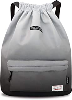 STSNano Gym Drawstring Bags for Women Men Girls Boys