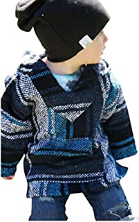 Youth Kids Childrens Mexican Baja Hoodie Pullover Sweater Unisex Boys Girls