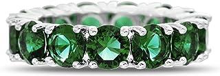 ميا سارين جولة مقلد الأحجار الكريمة إترنتي باند للنساء من النحاس المطلي بالروديوم