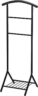 Kings Brand Furniture - Amos Metal Suit Valet Rack Stand Organizer, Black