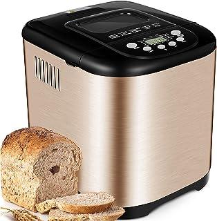 Yabano Acier Inox Machine à pain, 15 en 1 Automatiques Machines à Pain avec Pot en Céramique Antiadhésif, Machines Pain 1k...