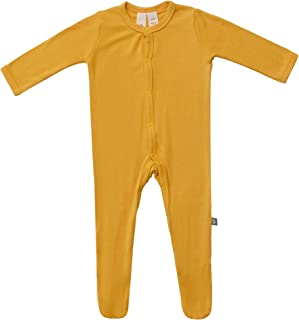 Footies - Baby Footed Pajamas Made of Soft Organic Bamboo Rayon Material - 0-24 Months - Solid Colors