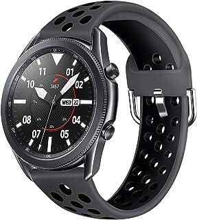 AOTVIRIS Kompatibel med 22 mm rem Galaxy Watch 3 45 mm/Galaxy Watch 46 mm/Gear S3 Frontier/Classic Band klockarmband silik...