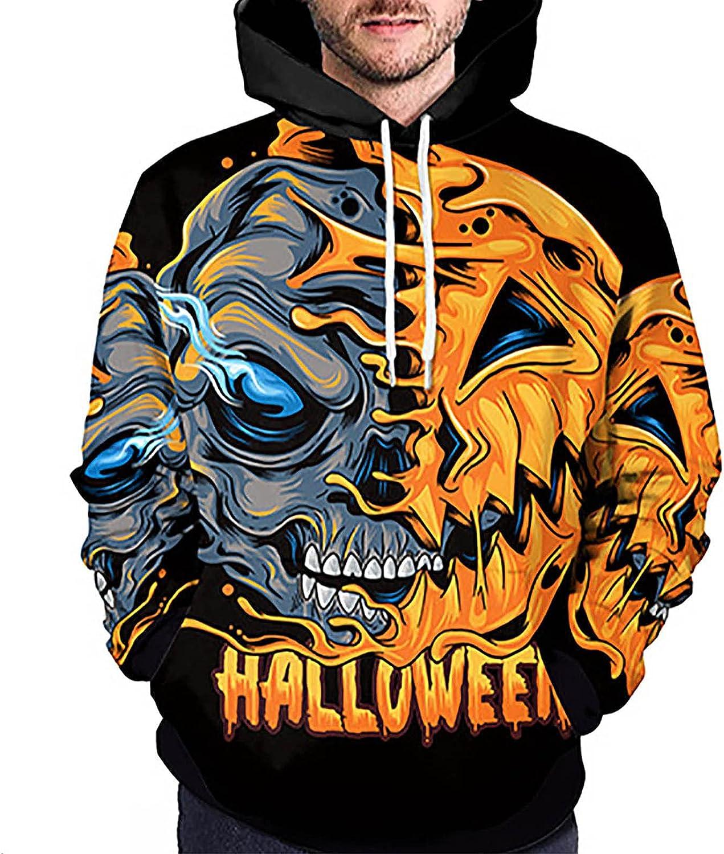 Men's Hoodies Pullover Tops Realistic 3D Print Guard Fashion Casual Autumn Winter Sweatshirt Halloween Tops