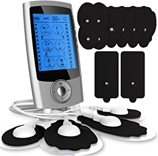 Tens Unit Muscle Stimulator–Dual Channel Electric Muscle Stimulator Machine with 24 Modes–Premium Muscle Massager for Abs,...