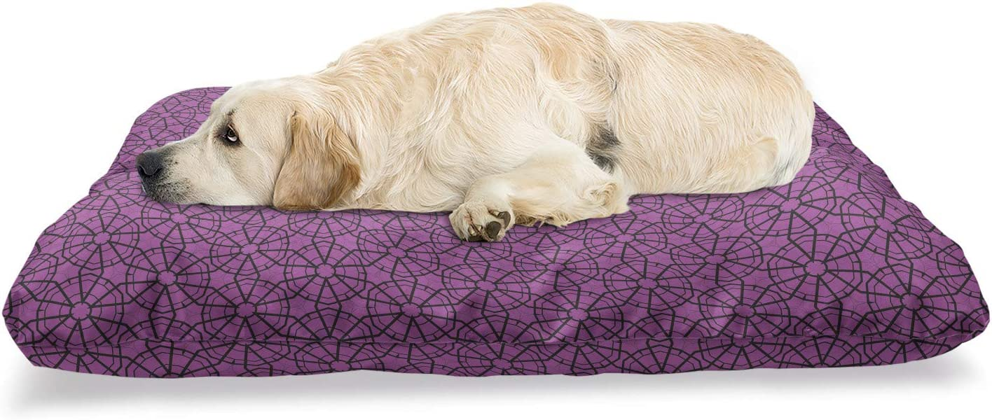 Ambesonne We OFFer at cheap prices Geometric Pet Bed Rounded Hexagonal Forms Super popular specialty store F