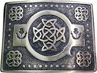 Scottich Kilt Belt Buckle Celtic knot Design Antique finish