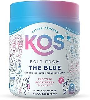 KOS Bolt from The Blue - Organic Energizing Blue Spirulina Adaptogen Blend - Natural Energy Powder - Spirulina, Ashwagandh...