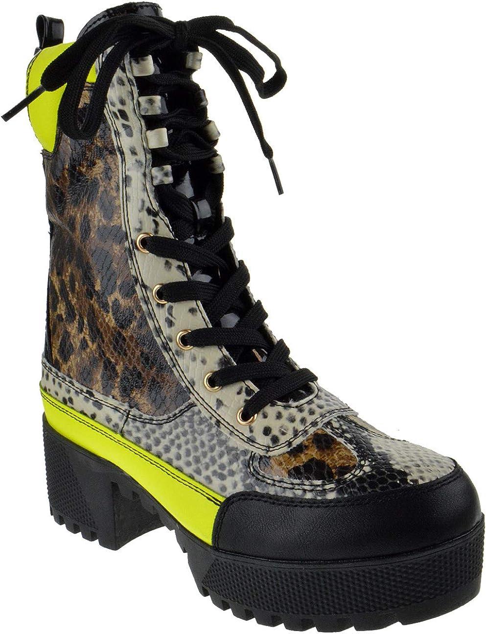 Bambo Powerful 06S Womens Chunky Platform Lug Military Sole Heel Max 42% San Diego Mall OFF