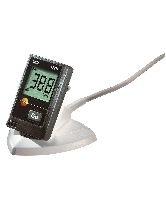 Testo 174 H Datalogger para Temperatura y Humedad, 2 Canales, Incluye una Interfaz USB, Negro
