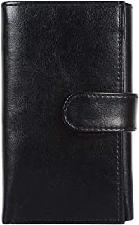 Gozzby Women Hand Wallet Purse Clutch Bag in Pu Leather (Black)