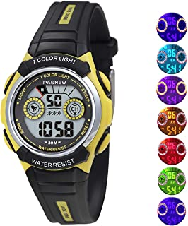 Jewtme Kids Outdoor Sports Watches Digital Waterproof Outside Sports Multi Function Watch for Children Girls Boys