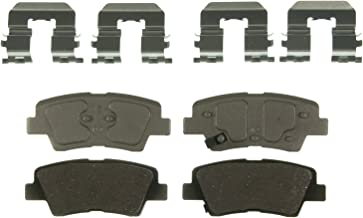 Wagner ThermoQuiet QC1544 Ceramic Disc Pad Set With Installation Hardware, Rear