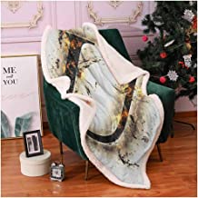 Zara Henry Letter U Camping Blanket, Autumn Tones in Alphabet Symbolism for Initials My Name in Leaves Fall Faded Print Sleeping Mat Multicolor