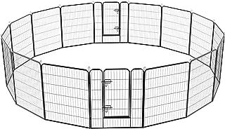 YAHEETECH 24/32/40-Inch 8/16/32 Panel Heavy Duty Pet Playpen Dog Exercise Pen Cat Fence..