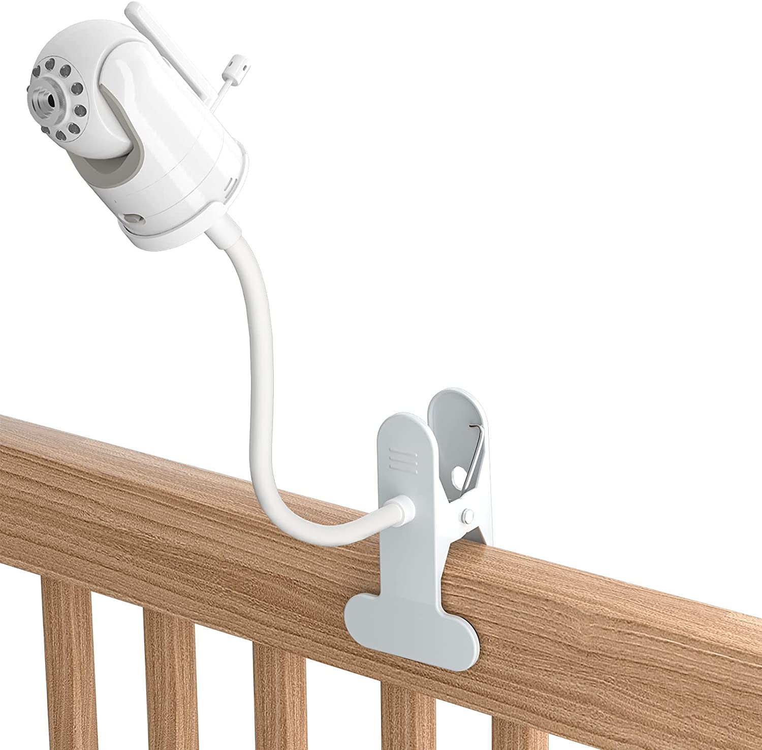 TIUIHU Baby Monitor Clip Mount for Infant Optics DXR-8 Baby Monitor/PRO/Infant Optics Add-On Camera- Twist Versatile Mounting Kit for DXR-8 Baby Monitor