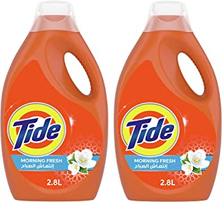 Tide Automatic Power Gel Laundry Detergent, Fresh Morning, 2.8 Litre (Dual Pack)