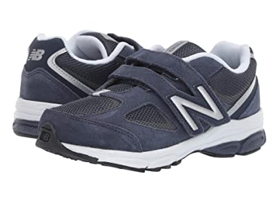 New Balance Kids PO888v2 (Little Kid) (Navy/Grey) Boys Shoes