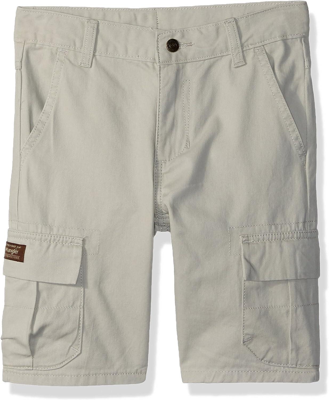 Wrangler Boys Premium Stretch Cargo Shorts with Adjustable Waist