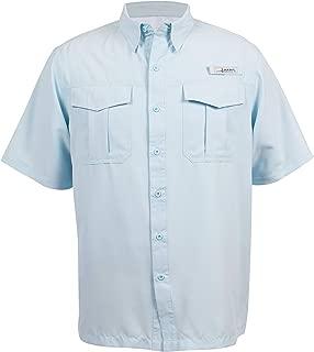 HABIT Men's Belcoast Short Sleeve River Guide Fishing Shirt, Omphalodes, 2X-Large