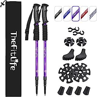 TheFitLife Los Bastones De Senderismo - Bastones Telescópicos Plegables, 2 Packs Ultraligeros. Bastones Extendibles para C...