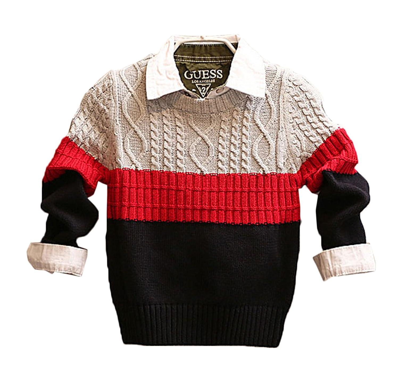 BAISNOW ボーイズセーター 男の子上着 キッズ服 ニットセーター 春秋 子供服