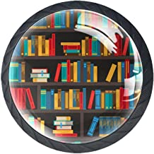 AITAI Set van 4 deurknop decoratieve handvat boek planken decoratieve kleurrijke elegante toevoeging voor kast lade dresso...