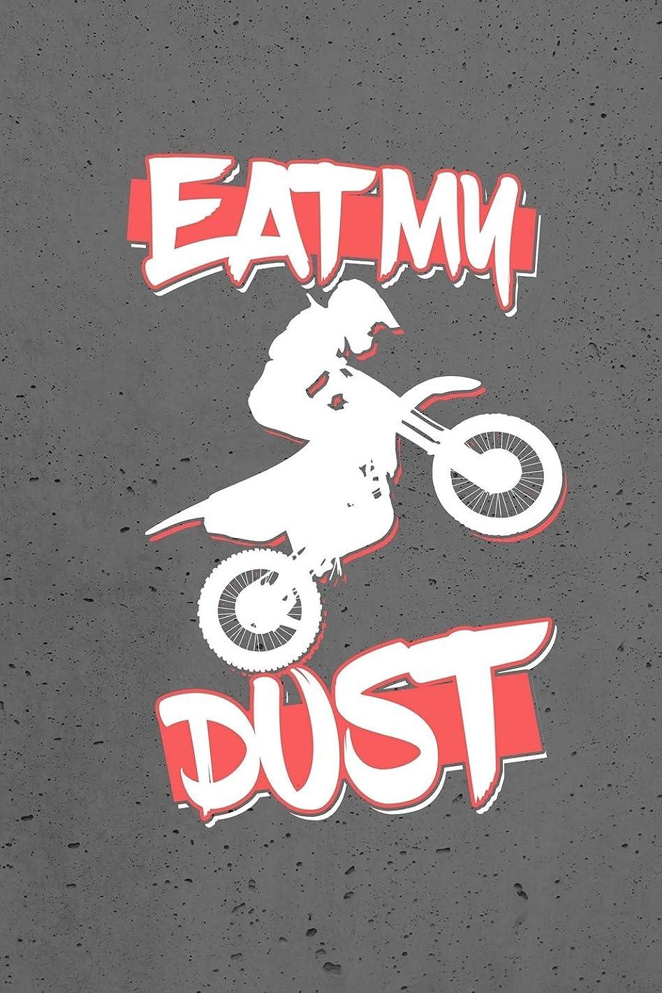 ベルベット自然期限切れEat My Dust: Dirt Bike Riding, Graph Journal Notebook Planner 4x4 Graph Paper, 100 Pages  (6