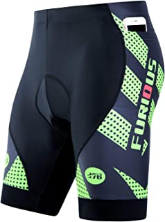Men's Cycling Shorts 3D Padded with 3 Pockets Bicycle Riding Tights Quick-Dry Half Pants