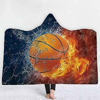 [HomeMiYN]フード付きブランケット 着る毛布 スポーツボール柄 10種類