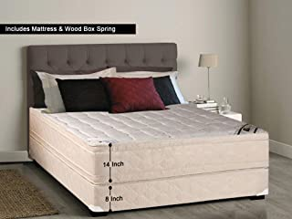 Continental Sleep, 14-inch Firm Eurotop Innerspring Mattress and 8-inch Box Spring