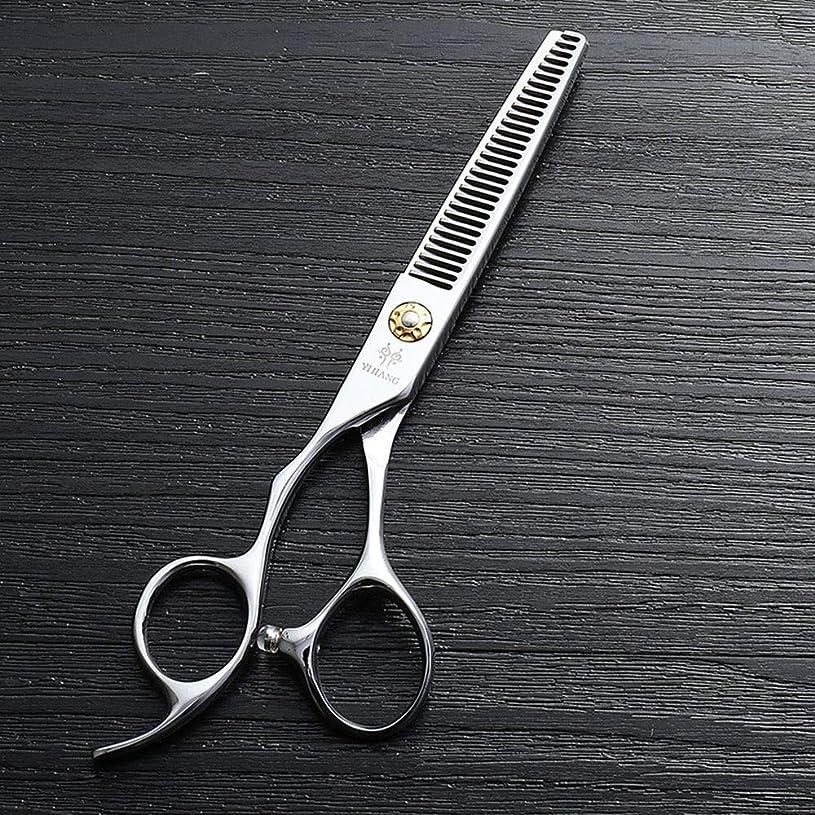 その間ビバケーブル理髪用はさみ 440Cステンレス鋼理髪ツール、6インチ美容院プロのヘアカットハイエンド左手歯はさみヘアカット鋏ステンレス理髪はさみ (色 : Silver)