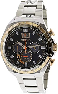 Seiko Men's SSC664 Silver Stainless-Steel Japanese Quartz Diving Watch,Silver