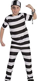 Forum Novelties Striped Convict Costume, Child Medium