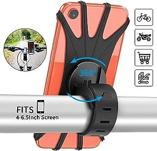 PEYOU Soporte Movil Bici, 360° Rotación Soporte Movil Moto