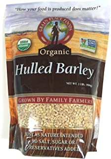 Grain Place Foods Non-GMO Organic Hulled Barley 2lb Bag