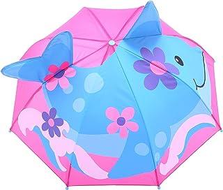 【Smart-Bear】T206 傘 子供用 耐風 グラスファイバー 可愛い動物柄 キッズ 手開き 長傘 通学 通園 スイーツ ファンシー 雨具 雨傘 軽量 丈夫 レース キッズ用 サメ イルカ 60cm
