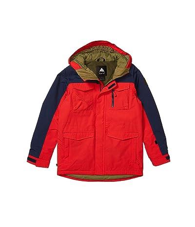 Burton Kids Covert Jacket (Little Kids/Big Kids) (Flame Scarlet/Dress Blue) Boy