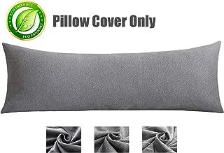 KWLET Body Pillow Cover with Zipper Premium 100% Cotton Pillow Case Soft Removable 21 x54 Body Pilloe Case Pillowcase Long Body Pillow Cover Pillow Protector Cushion Cover Long Pillow Case Grey