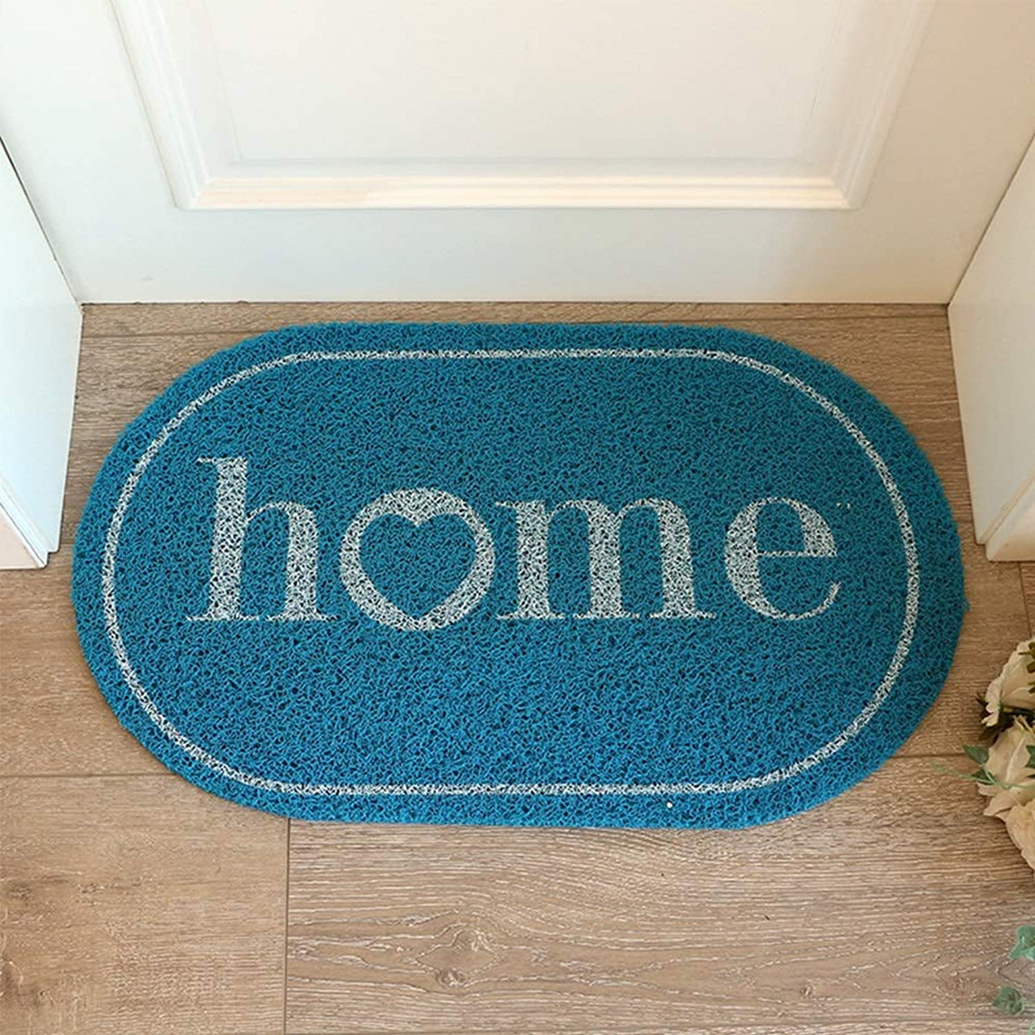 MING REN Floor Mat - Environmentally Friendly PVC, Hollow Design, Block Moisture, Wash-free And Dirt-resistant, Simple Nordic Home Entrance Mat Anti-slip Mat, Suitable For Living Room, Bathroom, Kitch